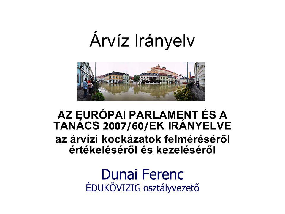 Árvíz Irányelv Dunai Ferenc