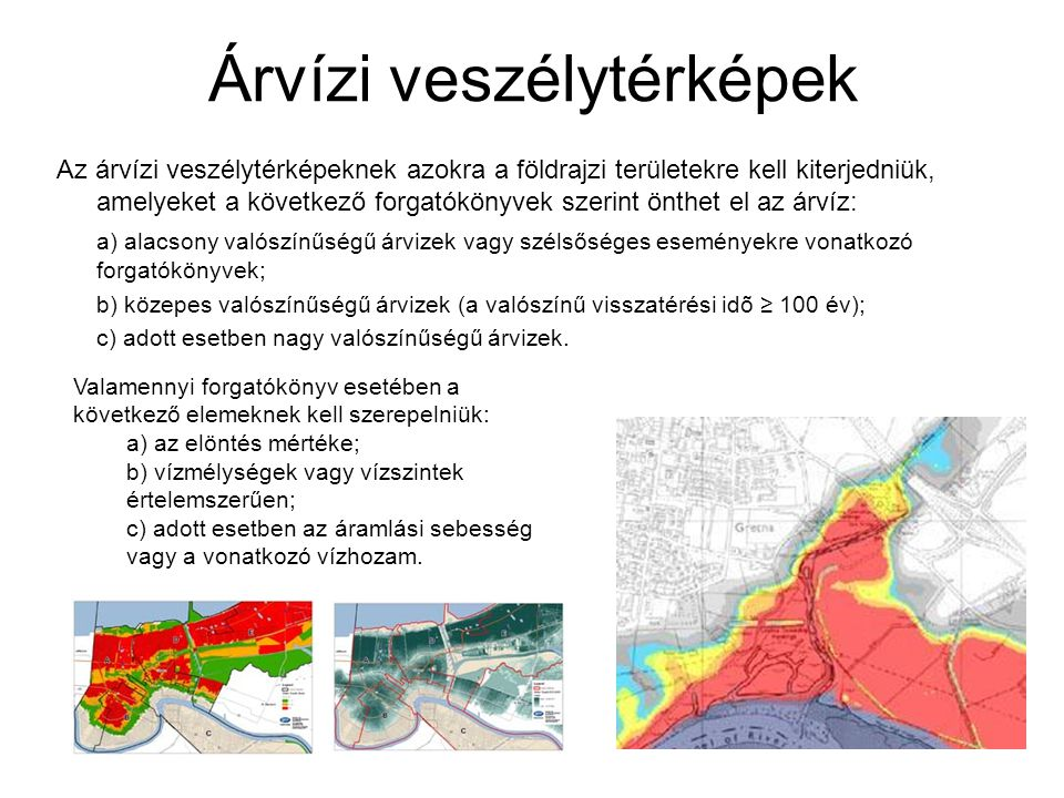 Árvízi veszélytérképek