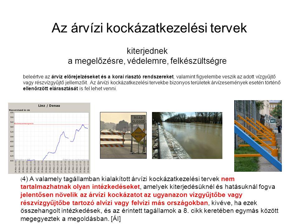 Az árvízi kockázatkezelési tervek