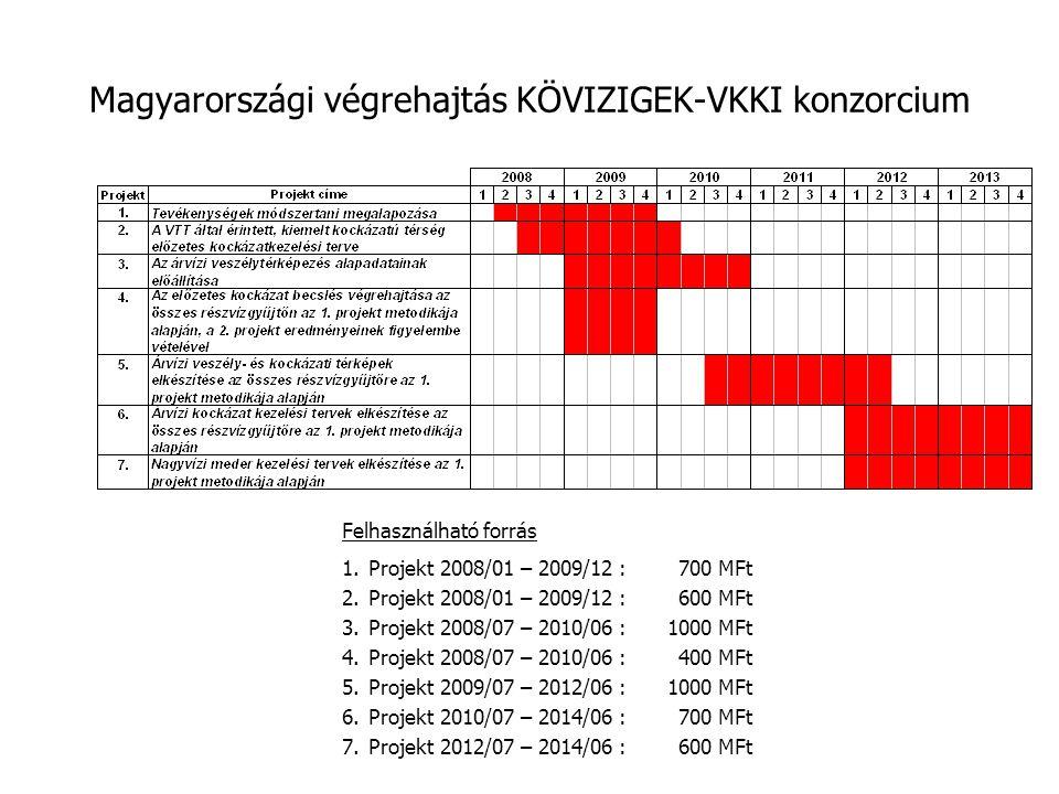 Magyarországi végrehajtás KÖVIZIGEK-VKKI konzorcium