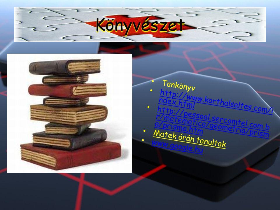 Könyvészet Tankönyv http://www.korthalsaltes.com/index.html