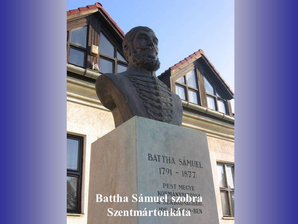 Battha Sámuel szobra Szentmártonkáta