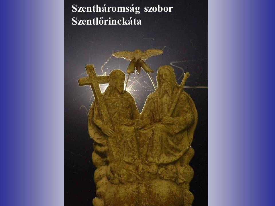 Szentháromság szobor Szentlőrinckáta