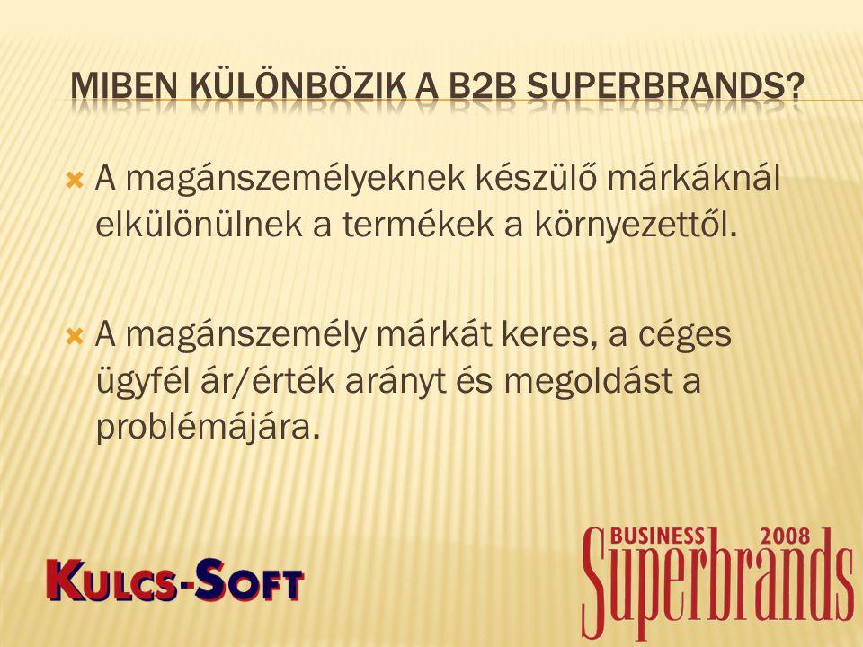 Miben különbözik a B2B Superbrands