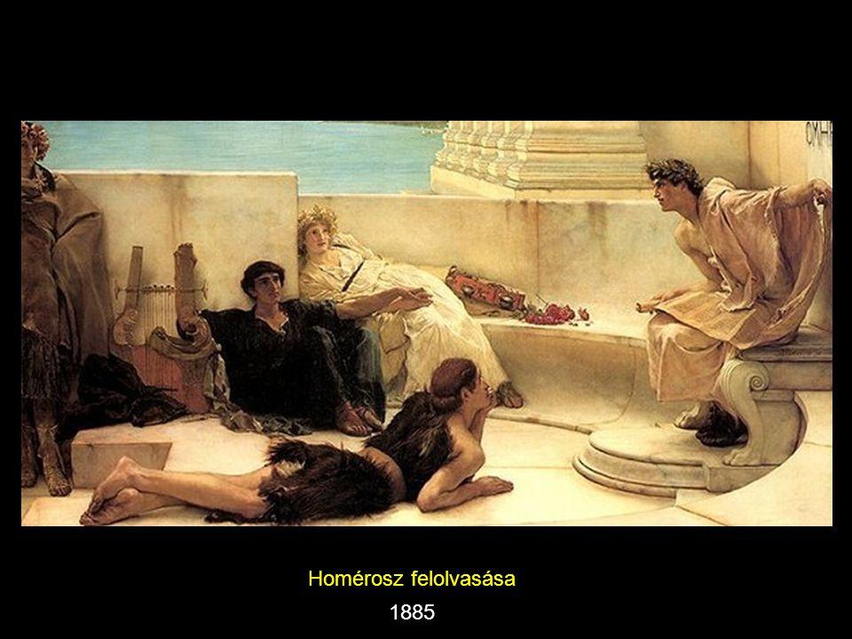 Homérosz felolvasása 1885