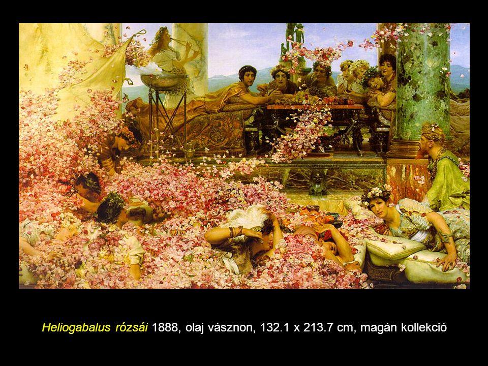Heliogabalus rózsái 1888, olaj vásznon, 132. 1 x 213