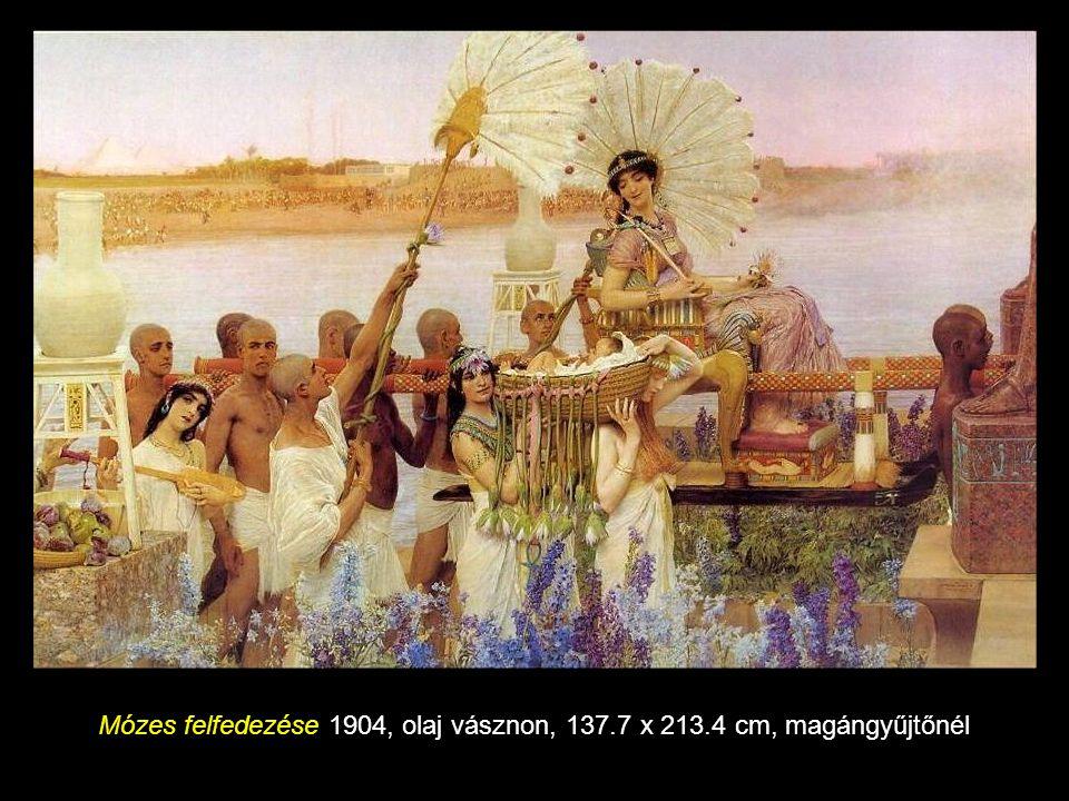 Mózes felfedezése 1904, olaj vásznon, 137.7 x 213.4 cm, magángyűjtőnél