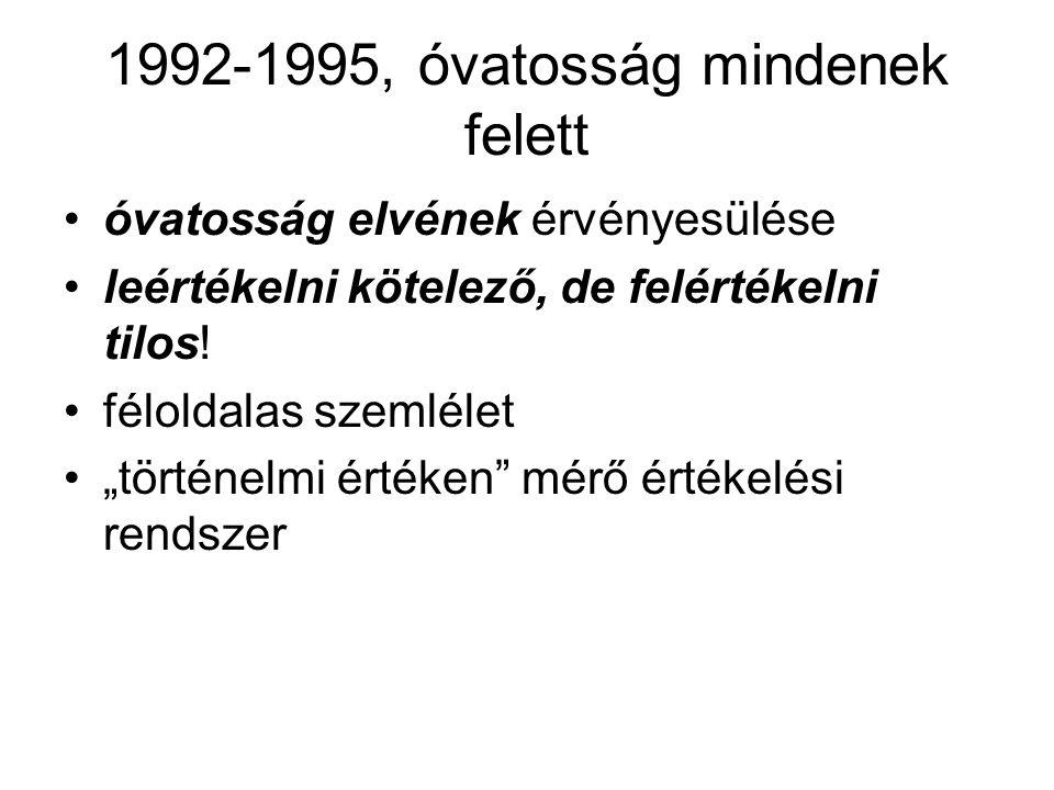 1992-1995, óvatosság mindenek felett