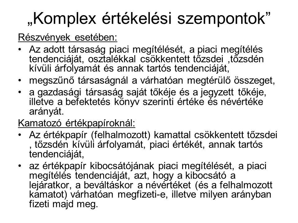 """""""Komplex értékelési szempontok"""