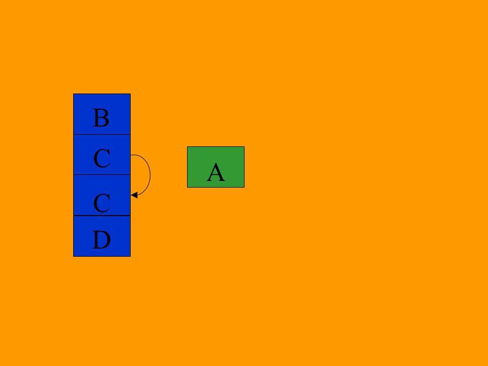 B C A C D