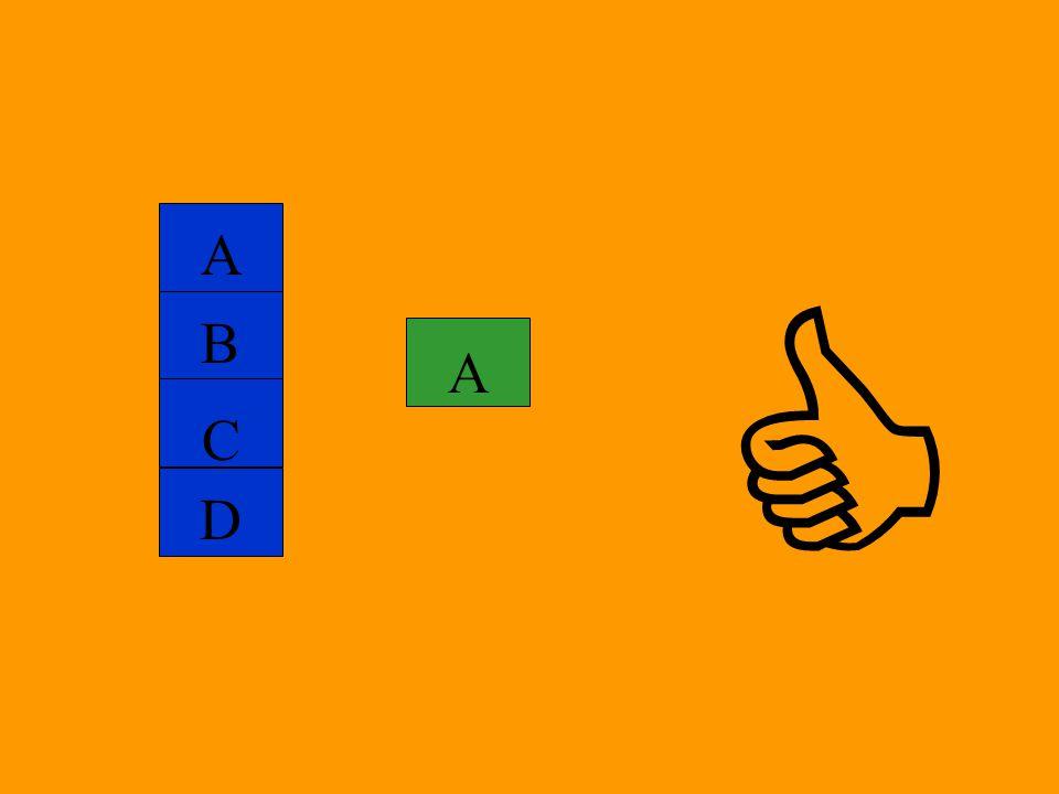 A  B A C D