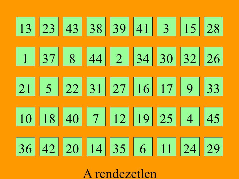 13 23. 43. 38. 39. 41. 3. 15. 28. 1. 37. 8. 44. 2. 34. 30. 32. 26. 21. 5. 22. 31.