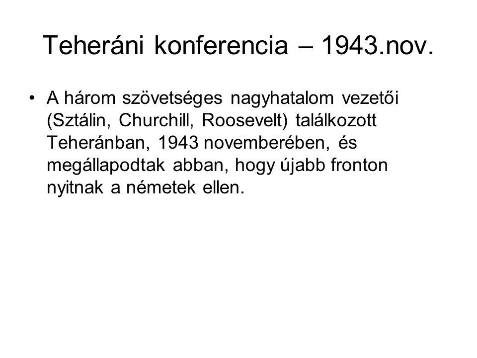 Teheráni konferencia – 1943.nov.