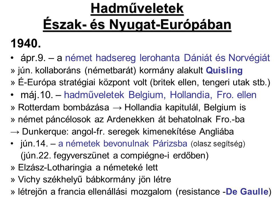 Hadműveletek Észak- és Nyugat-Európában