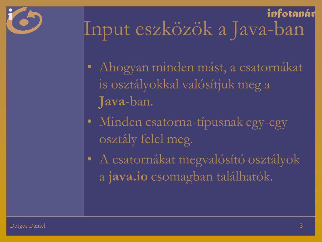 Input eszközök a Java-ban