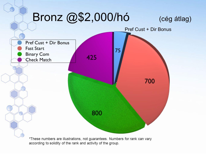 Bronz @$2,000/hó (cég átlag)