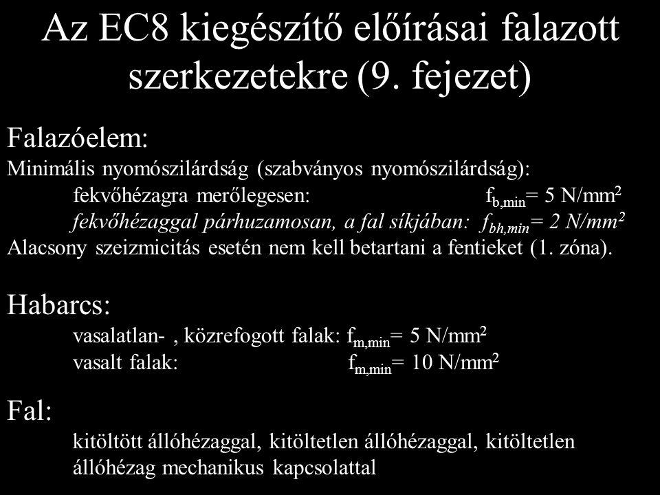 Az EC8 kiegészítő előírásai falazott szerkezetekre (9. fejezet)