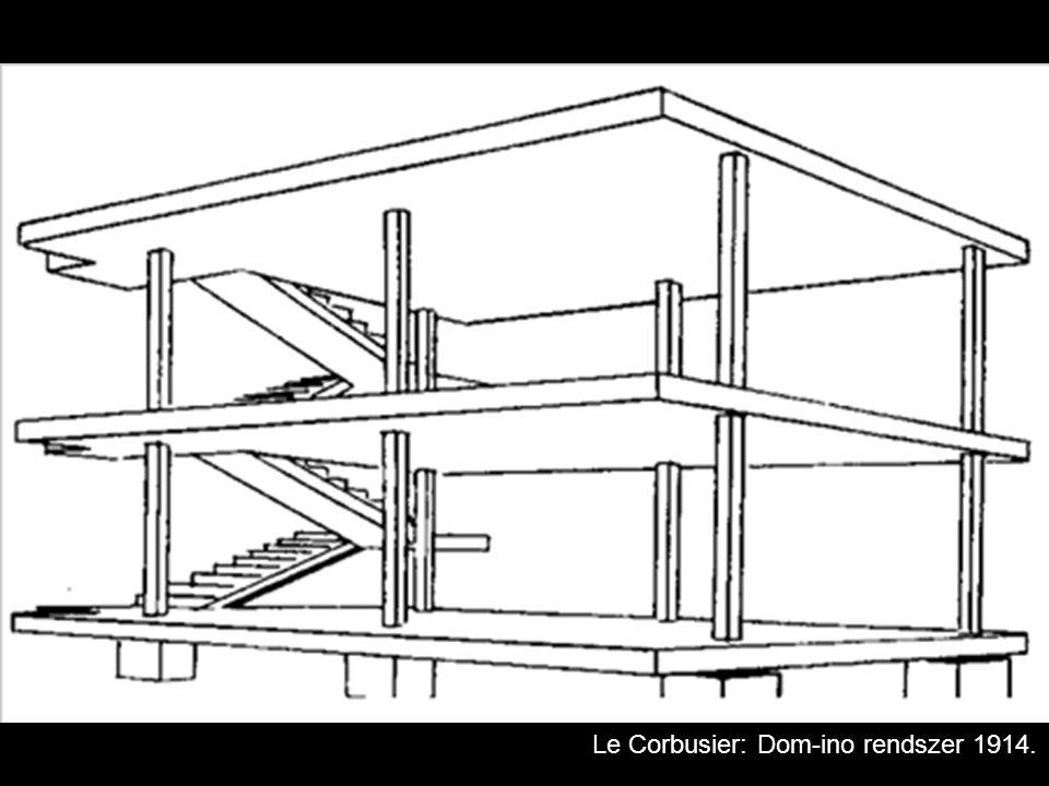 Le Corbusier: Dom-ino rendszer 1914.