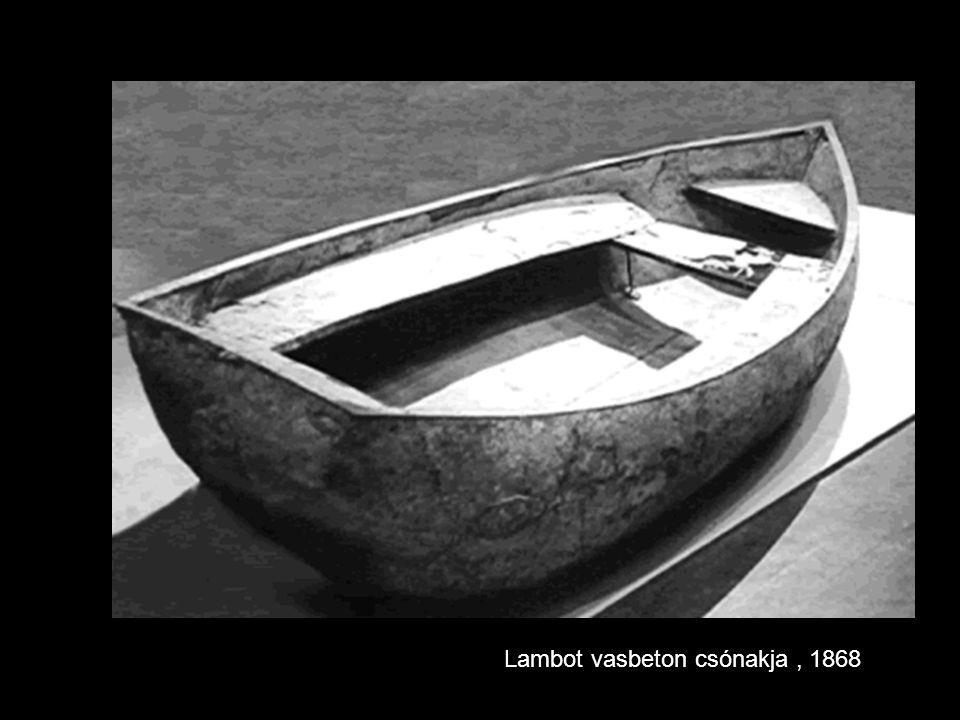 Lambot vasbeton csónakja , 1868