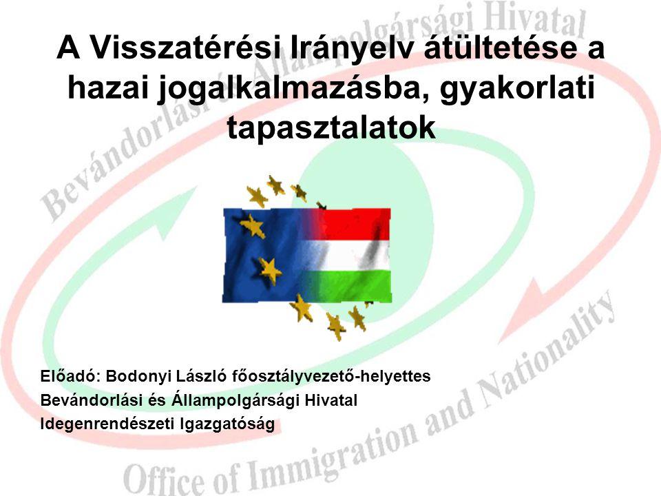 A Visszatérési Irányelv átültetése a hazai jogalkalmazásba, gyakorlati tapasztalatok