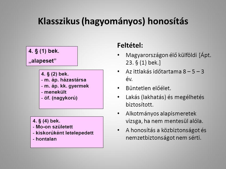 Klasszikus (hagyományos) honosítás