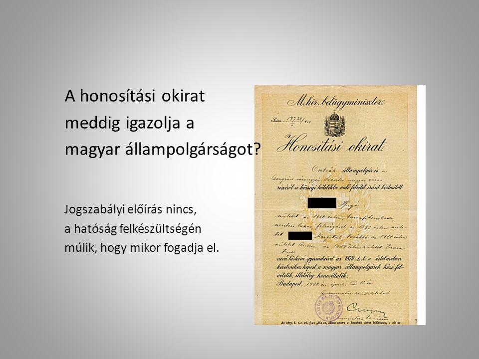 magyar állampolgárságot