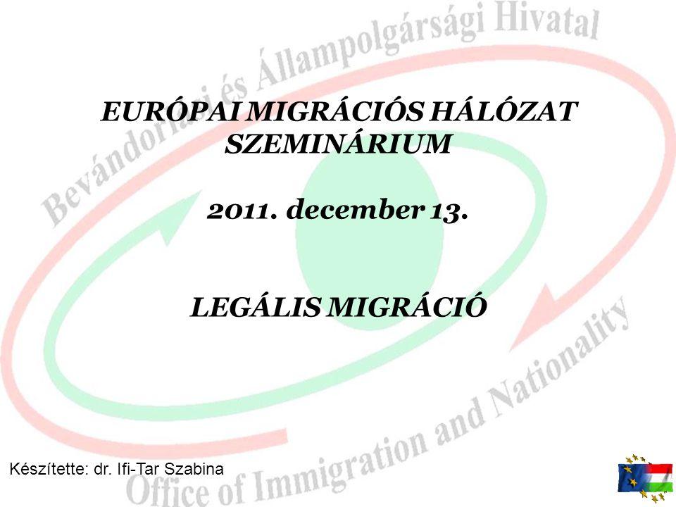 EURÓPAI MIGRÁCIÓS HÁLÓZAT SZEMINÁRIUM 2011. december 13