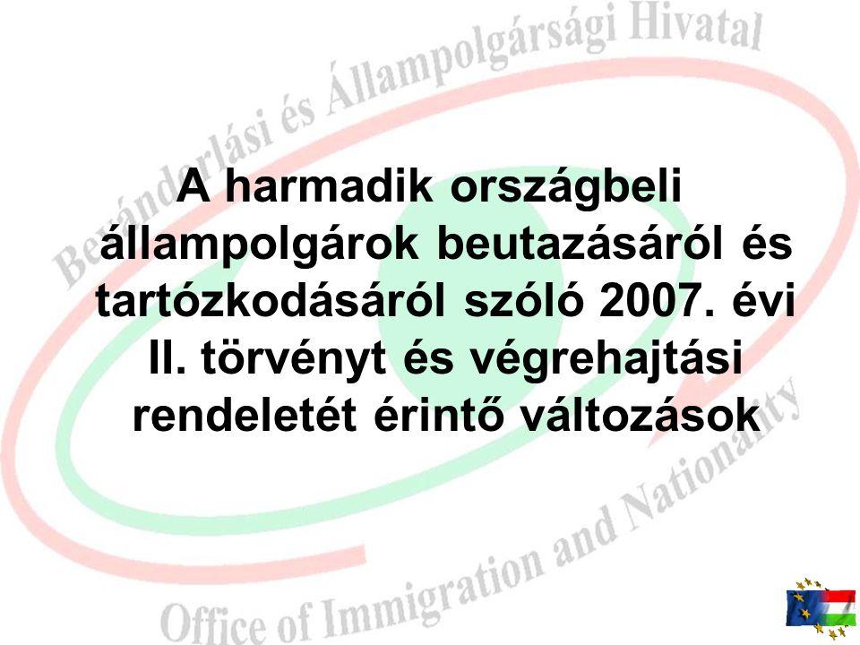 A harmadik országbeli állampolgárok beutazásáról és tartózkodásáról szóló 2007.