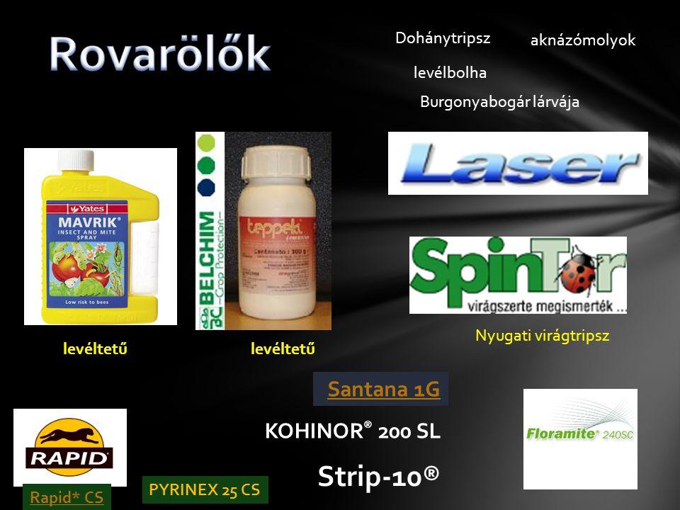 Rovarölők Strip-10® KOHINOR® 200 SL Dohánytripsz aknázómolyok