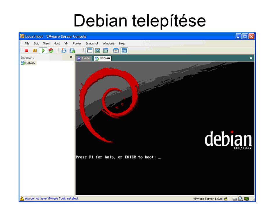 Debian telepítése