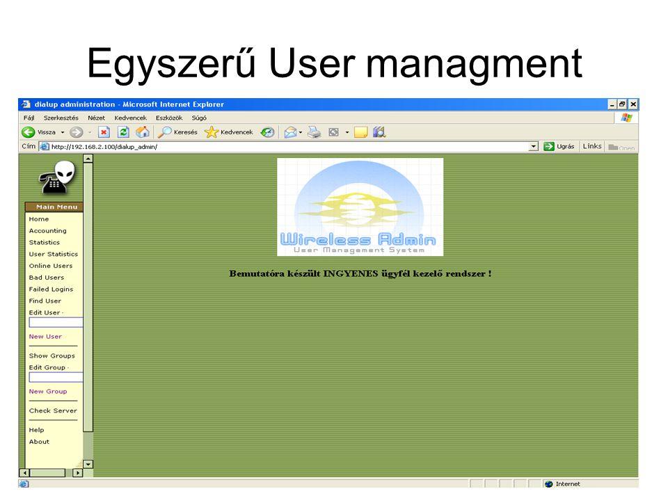 Egyszerű User managment