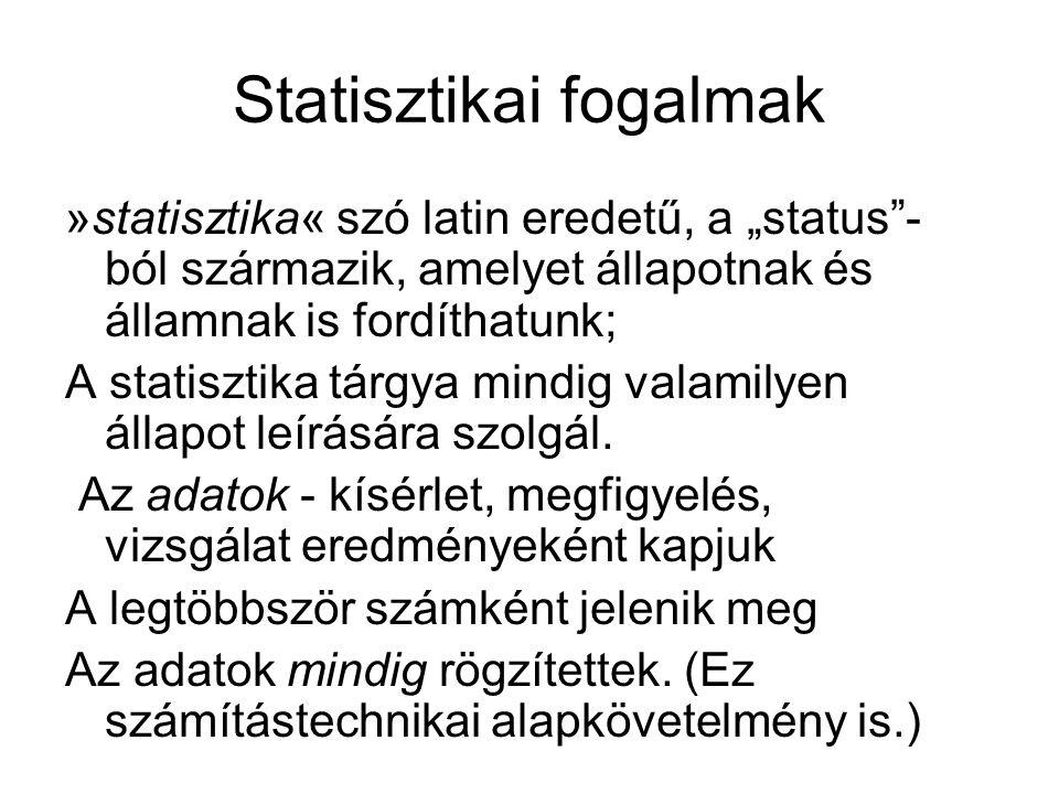 Statisztikai fogalmak