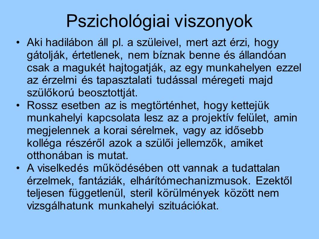 Pszichológiai viszonyok