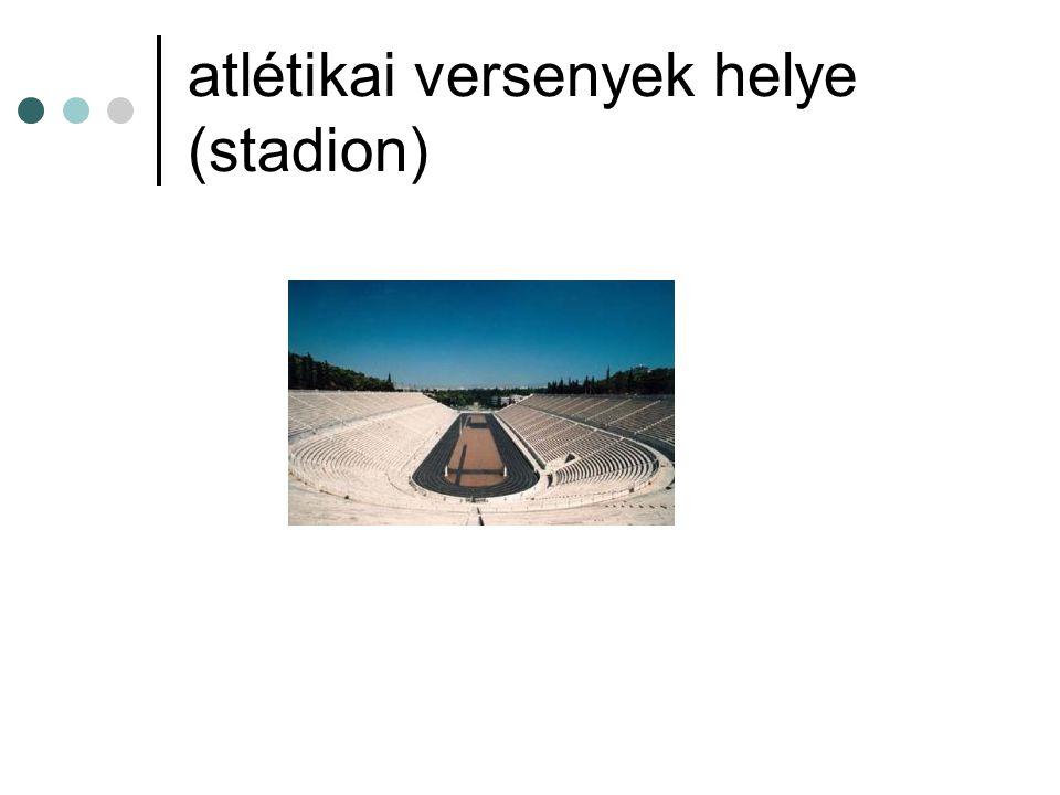 atlétikai versenyek helye (stadion)