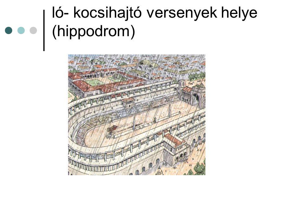 ló- kocsihajtó versenyek helye (hippodrom)
