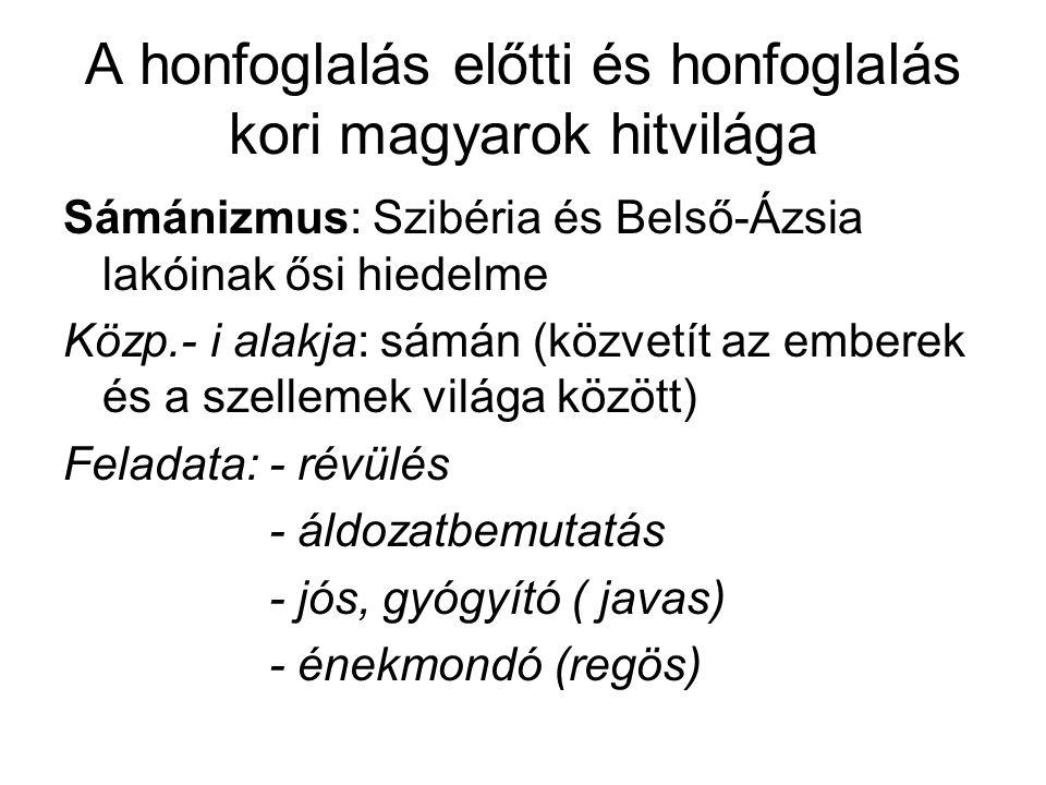 A honfoglalás előtti és honfoglalás kori magyarok hitvilága