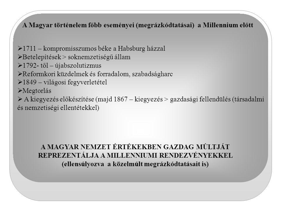 A Magyar történelem főbb eseményei (megrázkódtatásai) a Millennium előtt