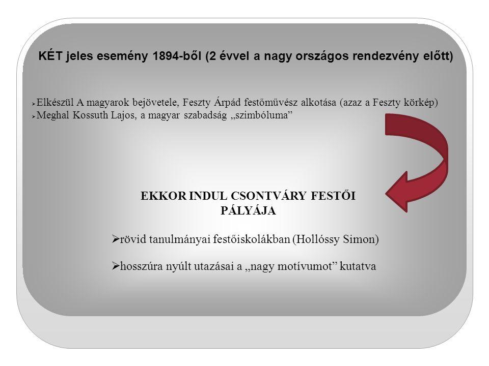 EKKOR INDUL CSONTVÁRY FESTŐI PÁLYÁJA