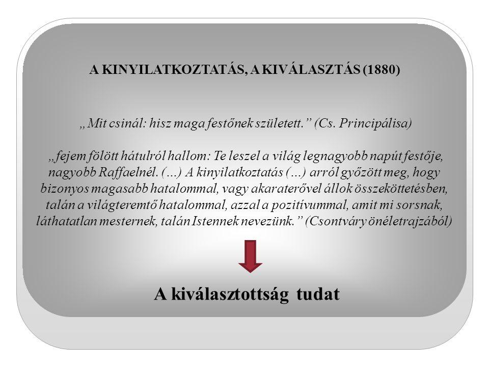 A KINYILATKOZTATÁS, A KIVÁLASZTÁS (1880) A kiválasztottság tudat