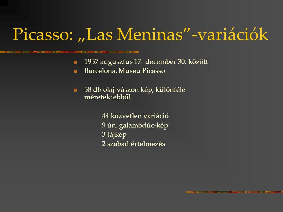 """Picasso: """"Las Meninas -variációk"""