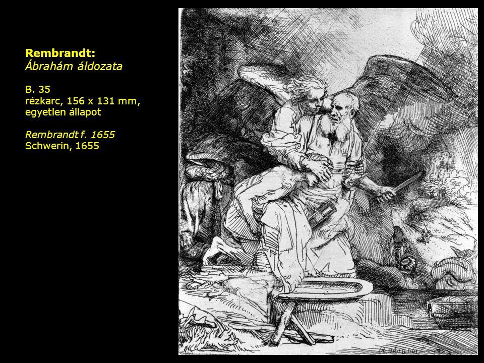 Rembrandt: Ábrahám áldozata B