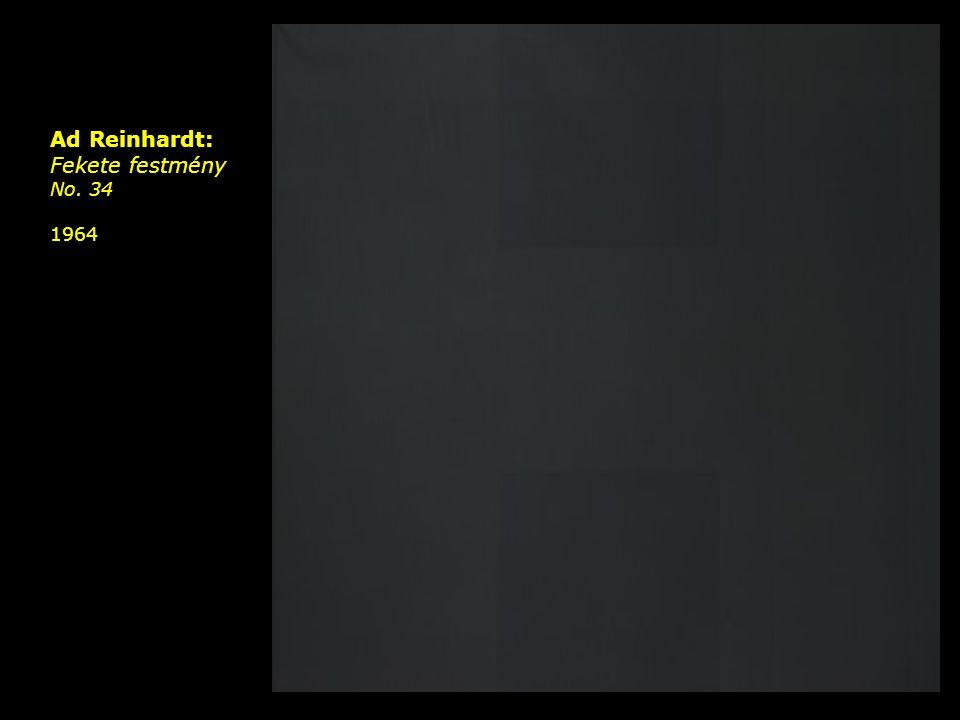 Ad Reinhardt: Fekete festmény No. 34 1964