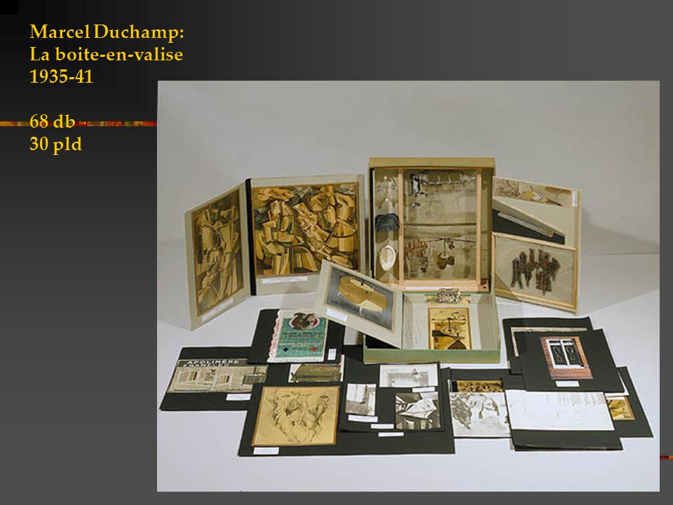 Marcel Duchamp: La boite-en-valise 1935-41 68 db 30 pld