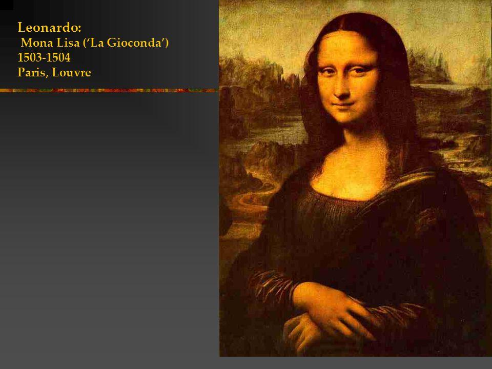 Leonardo: Mona Lisa ('La Gioconda') 1503-1504 Paris, Louvre