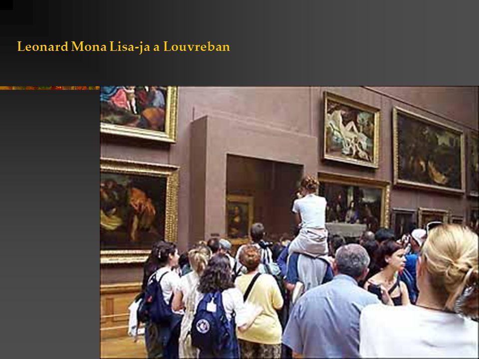Leonard Mona Lisa-ja a Louvreban