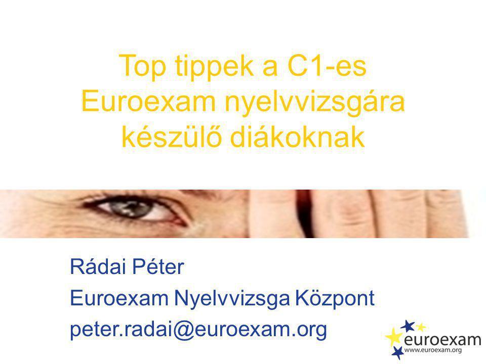Euroexam nyelvvizsgára