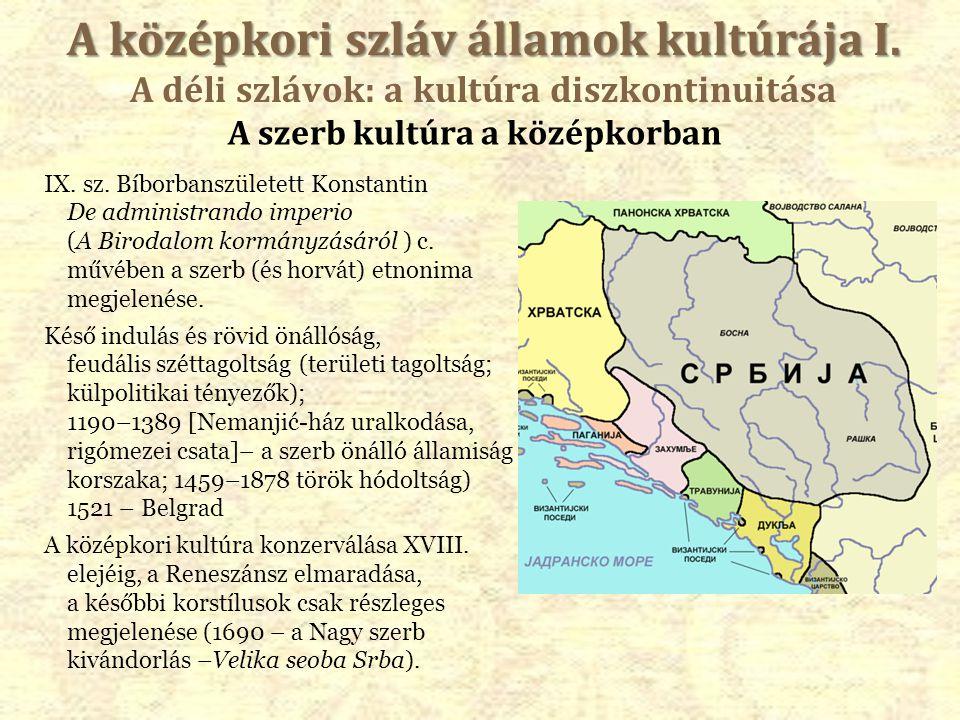 A szerb kultúra a középkorban