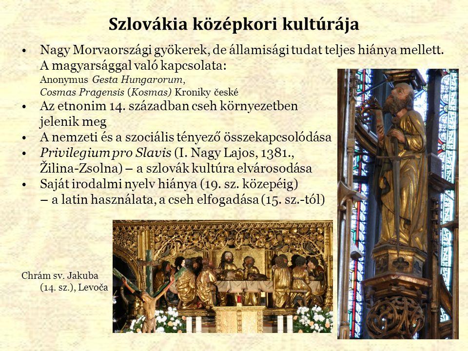 Szlovákia középkori kultúrája