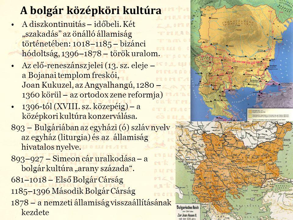 A bolgár középköri kultúra