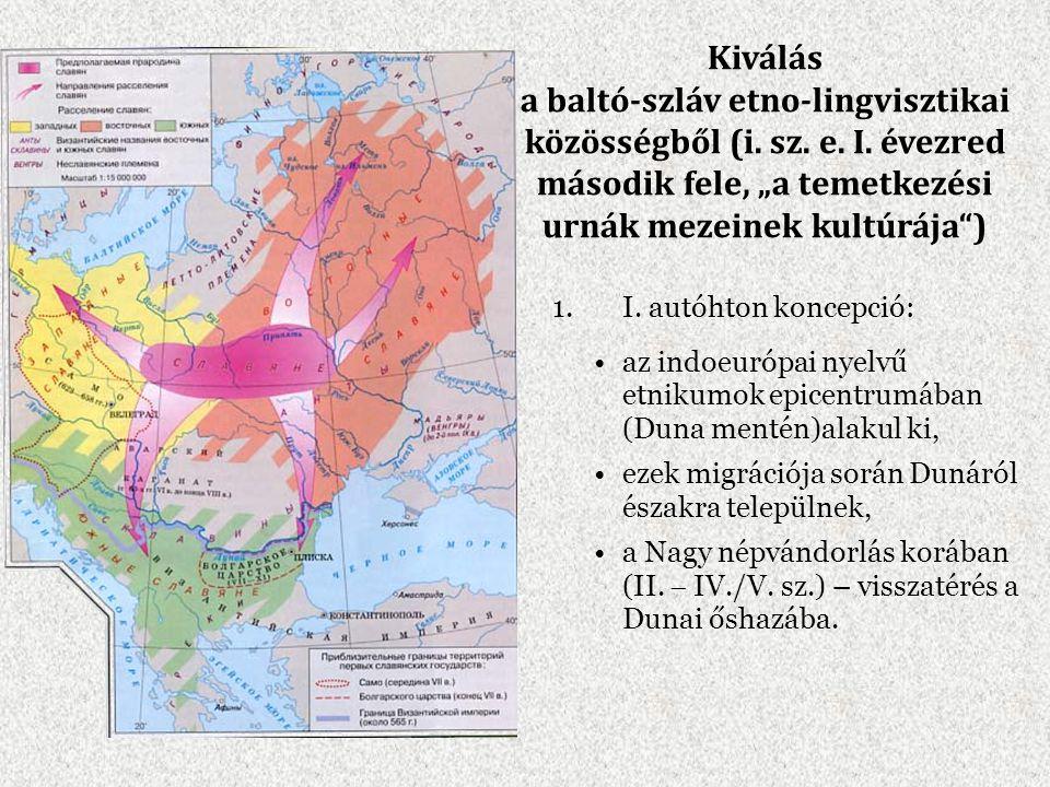 Kiválás a baltó-szláv etno-lingvisztikai közösségből (i. sz. e. I